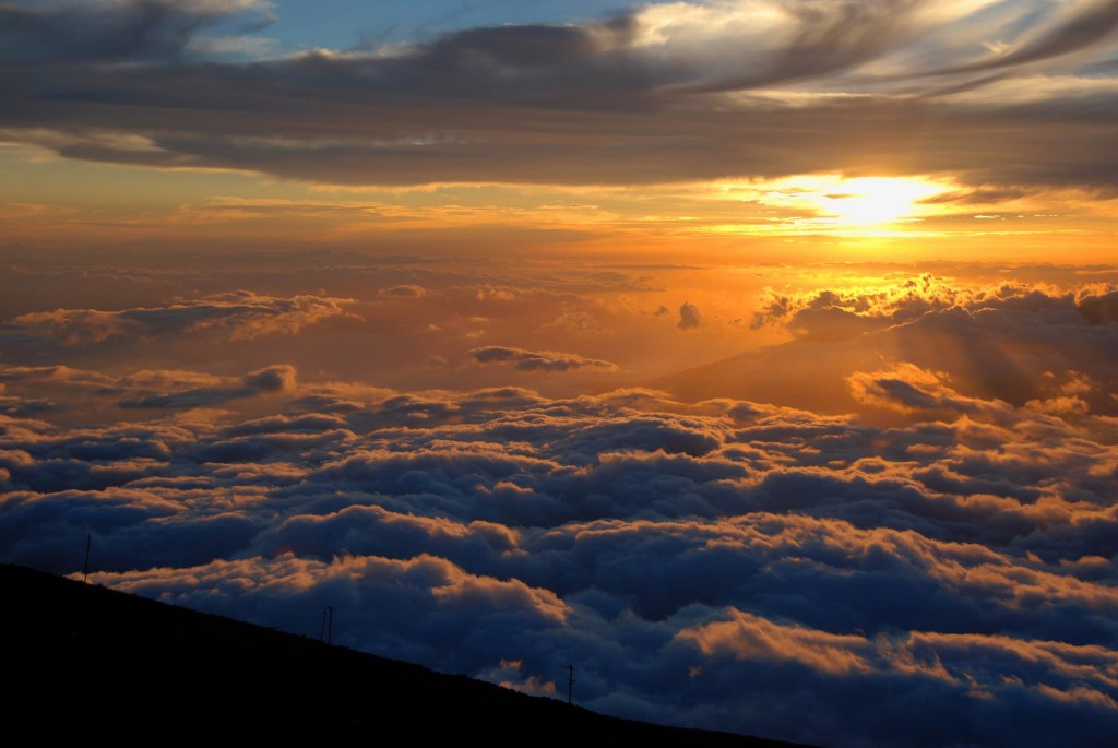 Volcano Sunset, Haleakala, Maui.