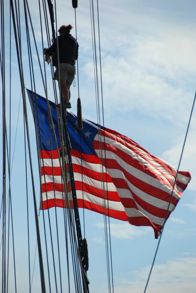 Annapolis Maryland USA Flag