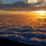 Sunset Haleakala Volcano.